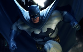 Картинка batman, бэтмен, маска, плащ, online, dc universe, онлайн игра, dc universe online