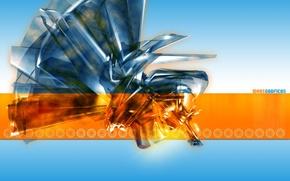 Обои энергия, оранжевая, вибрация