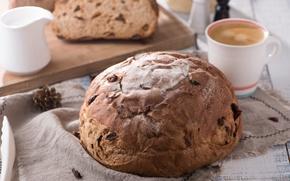 Картинка кофе, хлеб, выпечка