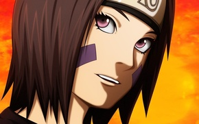 Картинка girl, game, Naruto, eyes, anime, short hair, purple eyes, pretty, face, ninja, asian, cute, manga, ...