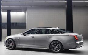 Картинка Jaguar, двери, автомобиль, вид сбоку, XJR