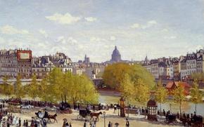 Картинка художник, импрессионизм, искуство, картина маслом, 1867, Claude Monet, Quai du Louvre, Клод Моне