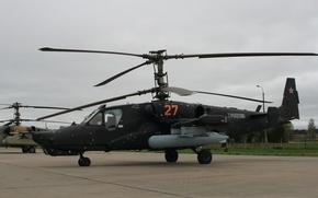 Картинка небо, полёт, вертолёт, КА-50