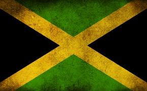 Обои флаг, грязь, Ямайка