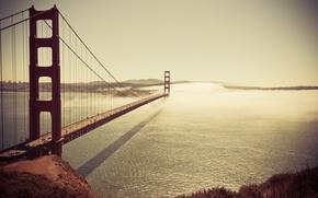Картинка постройки, отражение, штаты, машины, море, машина, авто, океан, америка, сооружение, постройка, здание, сан-франциско, небо, сша, …