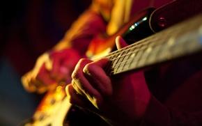 Обои руки, струны, аккорд, макро, гитара