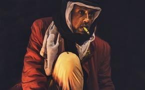 Обои turban, cigarette, man