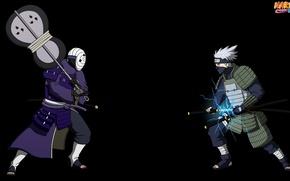 Картинка sword, game, Naruto, anime, katana, battle, samurai, asian, Sharingan, mask, Uchiha, armour, manga, Kakashi, Hatake, …