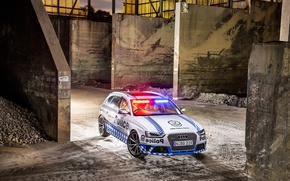 Обои 2015, Police, Avant, RS 4, ауди, полиция, Audi