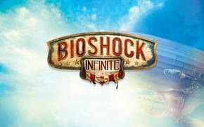 Картинка Лого, Надпись, Эмблема, Логотип, Bioshock, 2K Games, Infinite, Названия, Irrational Games