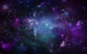 Обои блики, звёзды, Космос, Dmitriy Ushakov Design, inside of space