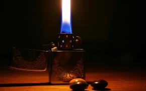 Картинка металл, огонь, узор, зажигалка, zippo