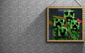 Картинка камень, картина, creeper, Minecraft, майнкрафт, крипер