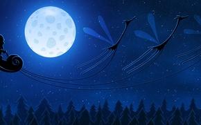 Картинка луна, новый год, жирафы