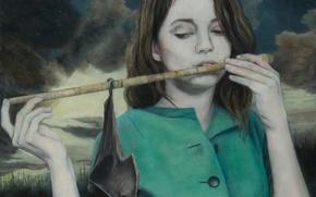 Картинка картина, норвежский художник, Christer Karlstad, Twilight Sings A Song, Though the Days are Long