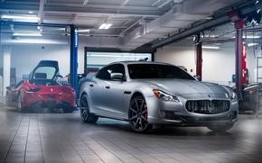 Обои GranTurismo, Wheels, ADV.1, Front, Garage, Maserati