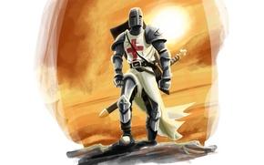 Картинка оружие, крест, Тамплиер
