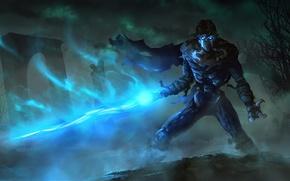 Картинка туман, магия, арт, когти, плащ, Raziel, Legacy of Kain