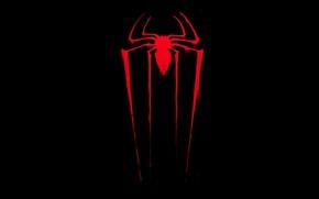Обои spider, dark, red, amazing spider-man, новый человек паук