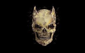 Картинка фон, череп, Batman, Dark Knight