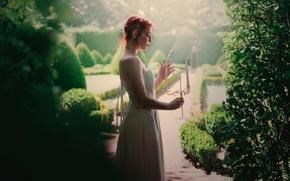 Картинка дым, свечи, платье, профиль, Hidden garden, Fanny Moreaux