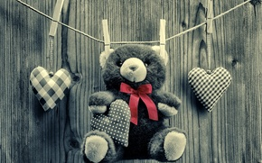 Обои Teddy, любовь, romantic, bear, sweet, toy, love, heart, мишка