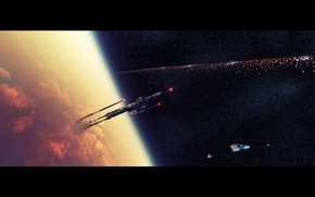Картинка космос, корабли, Babylon Tower
