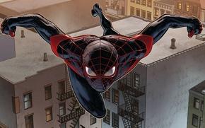 Картинка крыши, spider man, майлз моралес