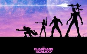 Картинка Rocket, Стражи Галактики, Peter Quill, Star-Lord, Guardians of the Galaxy, Gamora, Groot, Drax the Destroyer
