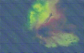 Картинка фон, дым, цвет, листик, газ, ячейка