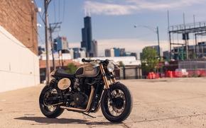 Картинка city, moto, bike, classic, british, urban, Triumph, caferacer, BONNEVILLE
