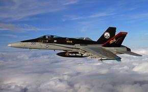 Картинка полет, истребитель, Super Hornet, F-18, палубный