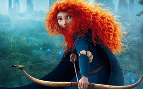 Обои мультфильм, pixar, brave, Brave's Princess Merida