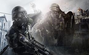 Обои Оружие, 4A Games, Метро, Взгляд, Deep Silver, Свет, Metro: Last Light Redux, Выживший, Апокалипсис, Metro: ...