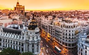 Обои city, Spain, buildings, Madrid