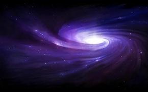 Обои Галактика, звезды, спираль