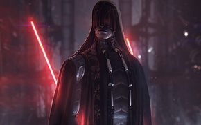Обои star wars, fan art, sith, Sith Lord, lightsaber, лазерный меч