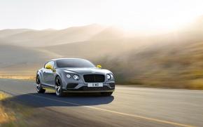 Картинка свет, скорость, Bentley, Continental, light, автомобиль, Speed, Black Edition