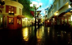 Обои улица, аптека, фонарь