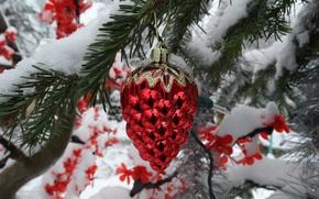 Картинка снег, Новый год, украшение