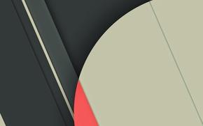 Картинка белый, линии, серый, розовый, Android, текстура.круг