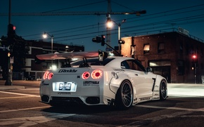 Обои nissan gt-r, hq wallpaper, car, tuning, liberty walk, автообои, ниссан