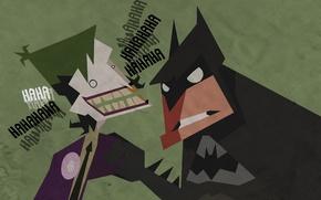 Картинка бетмен, рисунок, джокер, смех, batman