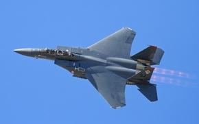 Обои полет, истребитель, Eagle, F-15, тактический