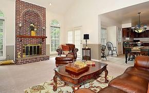 Картинка дизайн, стиль, интерьер, камин, гостиная