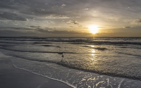 Картинка море, небо, облака, пейзаж, природа, sky, sea, landscape, nature, clouds, beautiful sunrise scene, красивая сцена ...