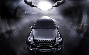 Обои Biturbo Brabus, Mercedes Benz ML63, внедорожник, черный