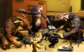 Картинка игрушки, ящерица, Gecko, art, crossover, Fallout: New Vegas