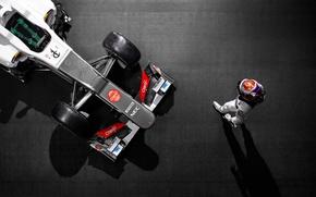 Картинка сверху, пилот, Formula1, Sauber, заубер