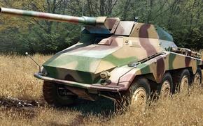 Картинка рисунок, арт, 5 cm, германский тяжёлый бронеавтомобиль, PaK.40, противотанковый вариант, Sd.Kfz.234/4, Schwerer Panzerspähwagen